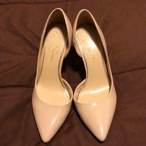 Jessica Simpson Shoes - Jessica Simpson d'Orsay Nude pumps size 10
